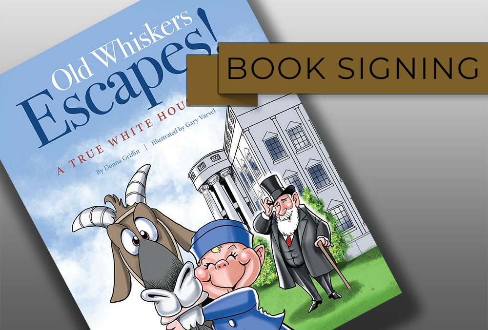 Graphic image of the cover of Old Whiskers Escapes. Additional text