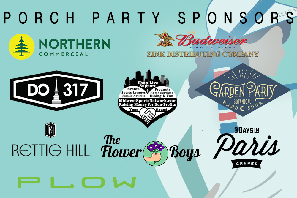 Graphic image of Wicket World of Croquet porch party sponsor logos.