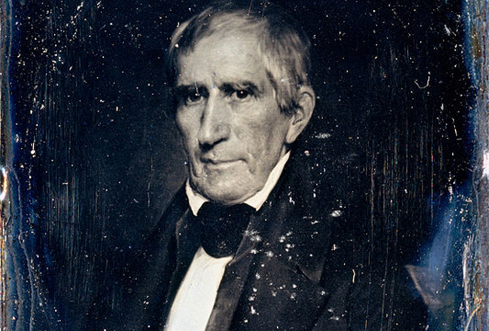 slightly damaged Photograph of William Henry Harrison