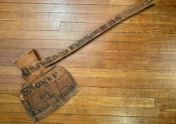wooden campaign ax