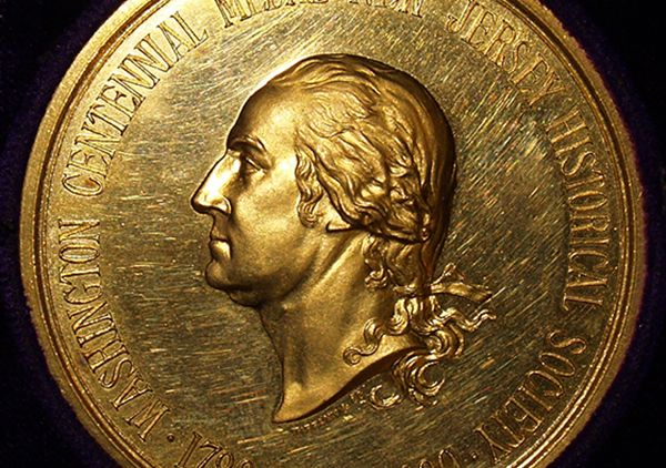 NJ Historical Society medal - George Washington