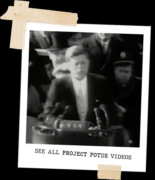 Polaroid of President Kennedy