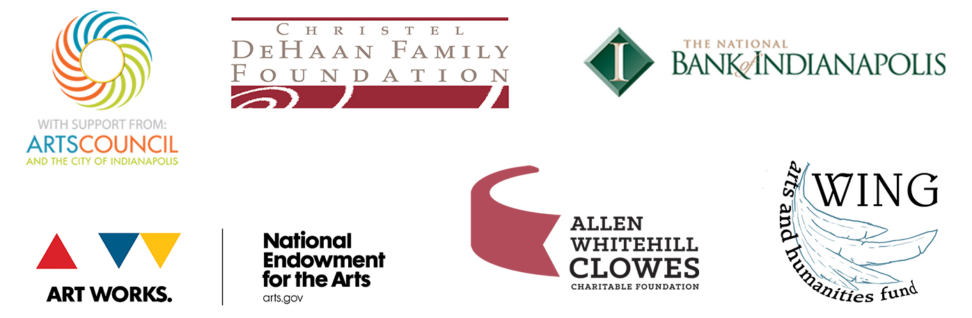 Graphic image of logos of Candlelight Theatre sponsors, including Arts Council and the City of Indianapolis, The National Bank of Indianapolis, Christel DeHaan Family Foundation, National Endowment for the Arts, Allen Whitehill Clowes Charitable Foundation, Wing Arts and Humanities Fund