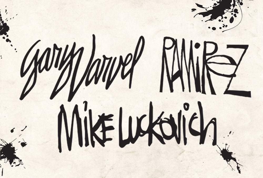 Graphic image of signatures of Gary Varvel, Mike Ramirez, and Mike Luckovich.