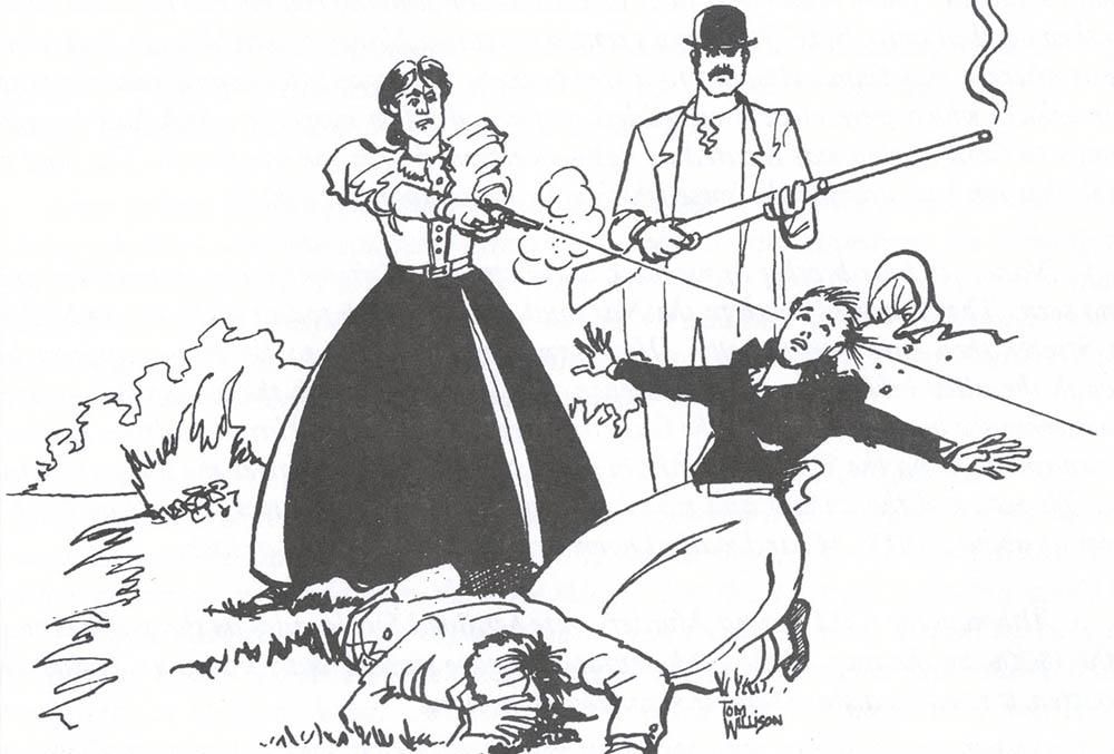 Drawing of the Nancy Clem murder scene by Tom Willson.