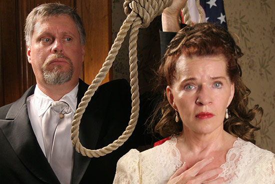 Actor with noose from