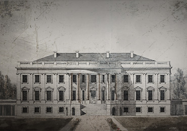 Graphic image of the White House in the 19th century